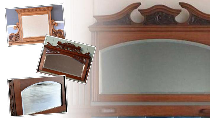 アンティーク家具 ウォッシュスタンド 発見3厚みがあるアンティークのミラー