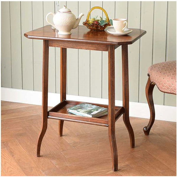 ローズウッド材のテーブル、美しい縞模様の天板の家具