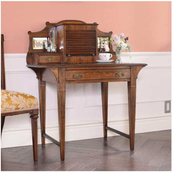 ローズウッド材のデスク、リージェンシー様式のアンティーク家具
