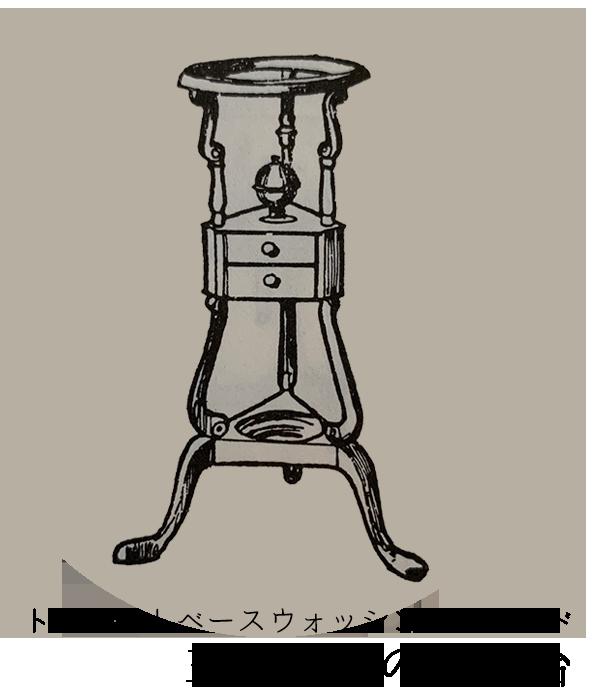 アンティーク家具 ウォッシュスタンド ウォッシュスタンドの始まりの三脚形式の洗面台