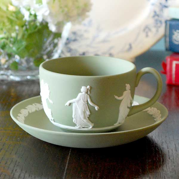 ジャスパーウェアのカップ&ソーサー、ティーカップ