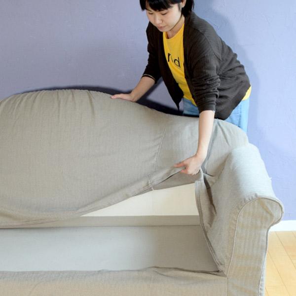 リネンのソファのカバー