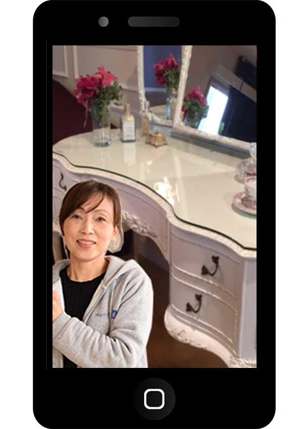 アンティーク家具ショップHandleのオンライン来店のzoomに参加