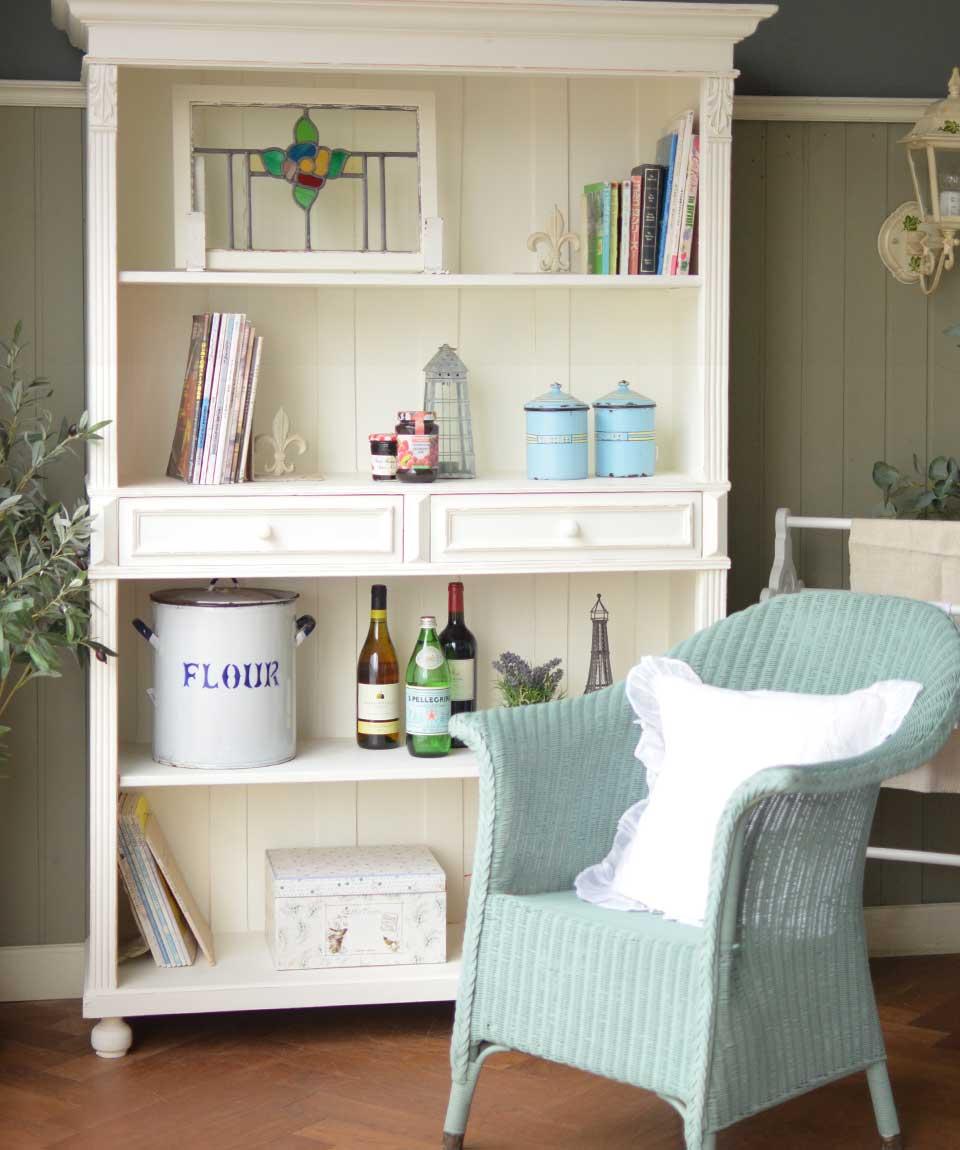 フランスのアンティーク家具、ペイントのシェルフ