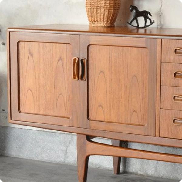 北欧ビンテージ家具の杢目