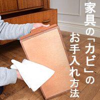 家具の基礎知識!家具のカビのお手入れ方法
