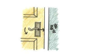 ドアハンドルをつける時の注意点1