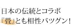 日本の伝統とコラボ『畳』とも相性バツグン!