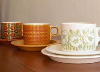 ホーンジーのプレートとコーヒー