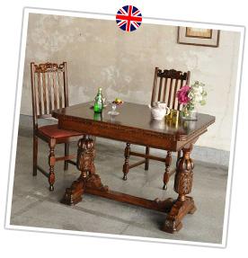 オーク材を使った英国ドローリーフテーブ