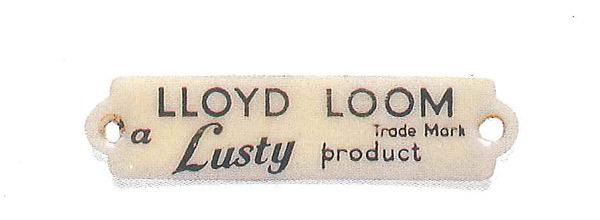 ロイドルームのプラスチックタグ(1950年代)