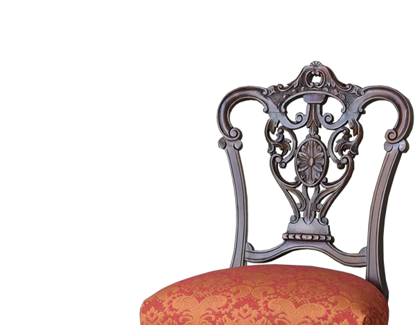 ピアスドカービング(透かし彫り)のチェアPC