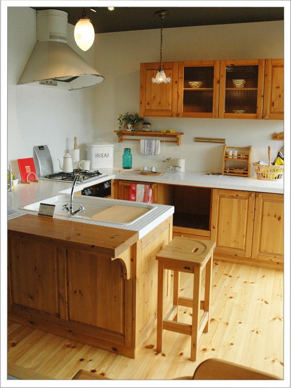 天然木のキッチン