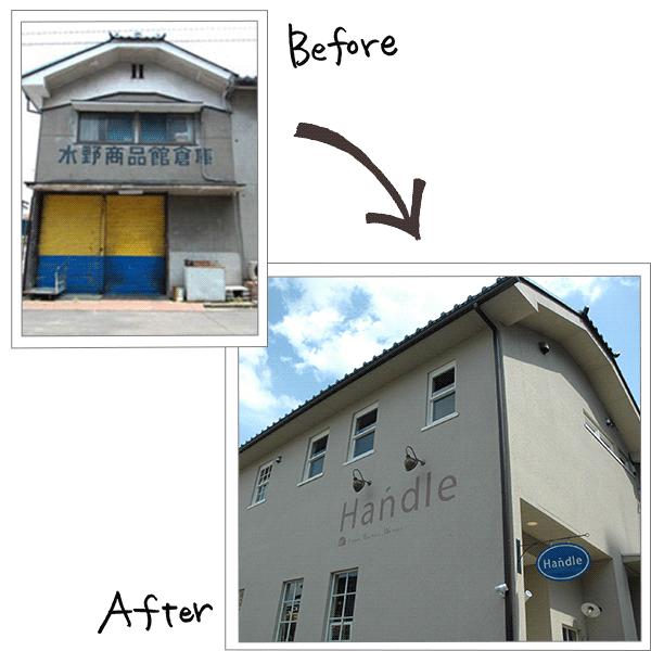 倉庫のリノベーションbefore,after
