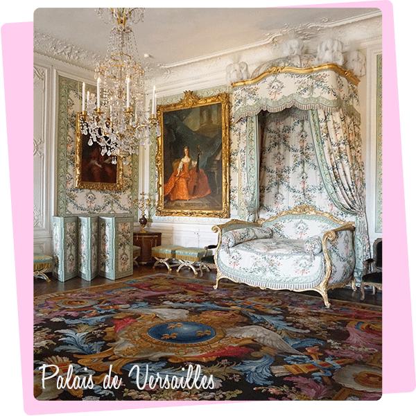 フランスのヴェルサイユ宮殿内装