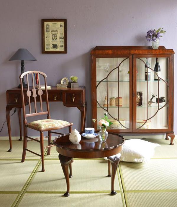 パッドフットのコーヒーテーブルを使った和室