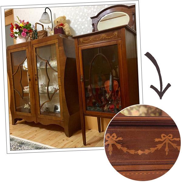 鹿児島県にお住いのTさま届いた象嵌の家具の写真