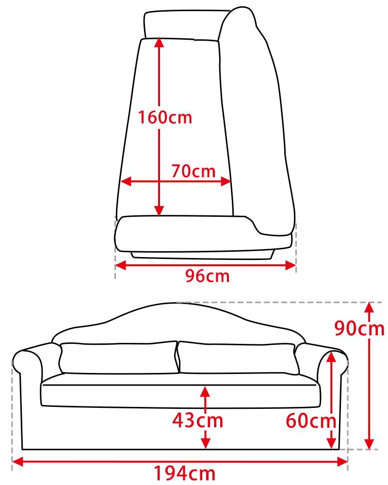 Handleオリジナルソファの大きさ(サイズ)