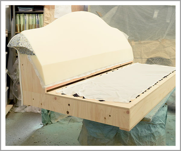 オリジナルソファの製造過程、13ここまで完成