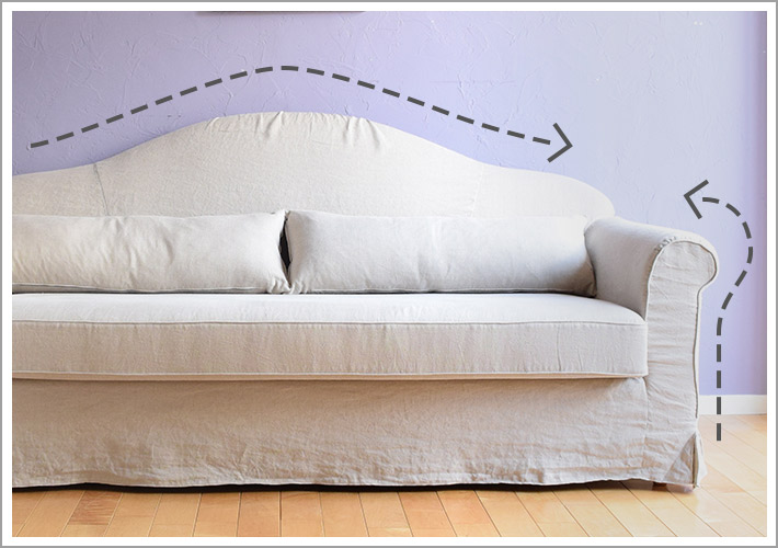 オリジナルソファマリー、こだわりの曲線デザイン