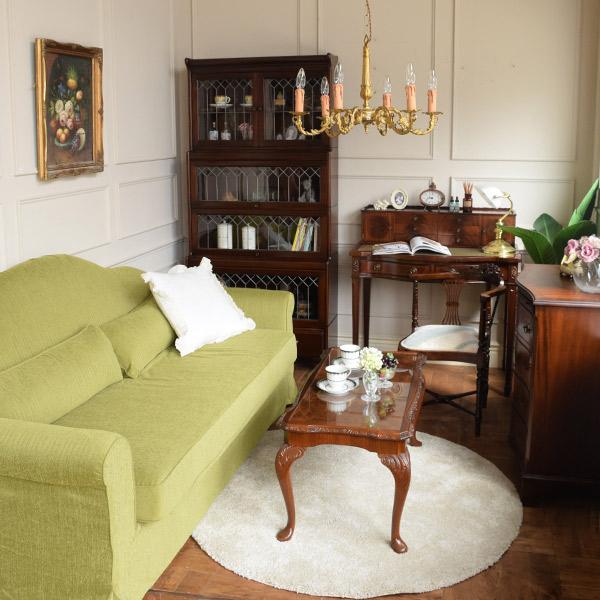 オリジナルソファマリーを使った英国クラシックの書斎