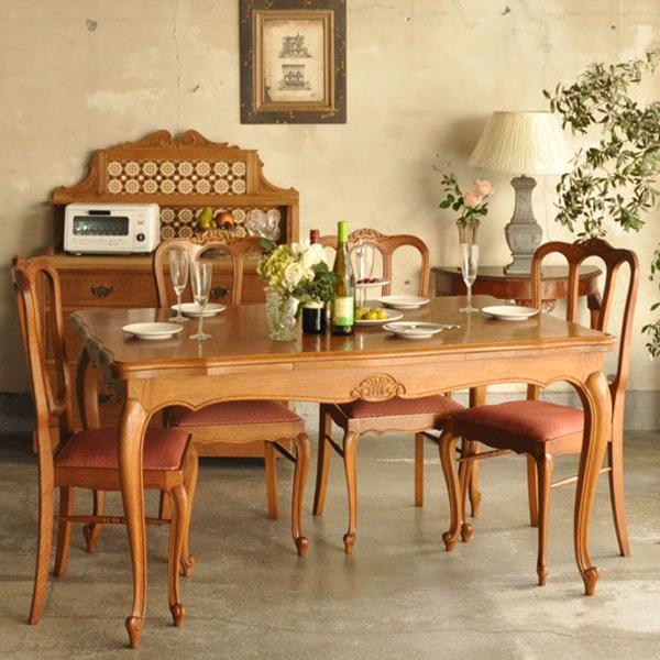フレンチエレガントスタイルの伸び縮みするテーブル