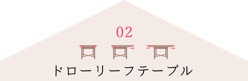 伸び縮みするアンティークのドローリーフテーブルとは