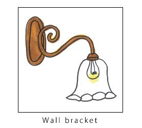 壁付けブラケット(ウォールランプ)