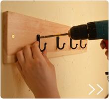 フックの取り付け方とフックボードの作り方