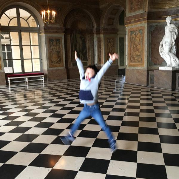 ヴェルサイユ宮殿、市松模様
