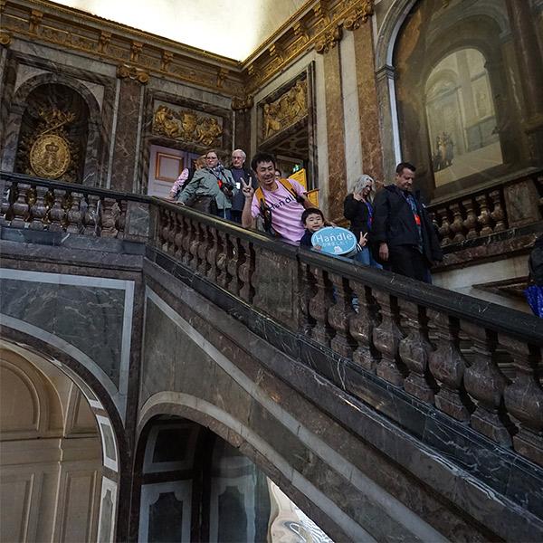 ヴェルサイユ宮殿、大理石の階段