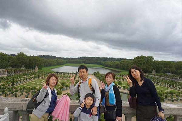 フランス社員旅行、フランスヴェルサイユ宮殿、庭園