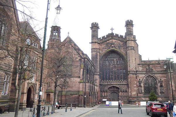 ヨーロッパ(西洋)の美しい街並みや建物、チェスター大聖堂