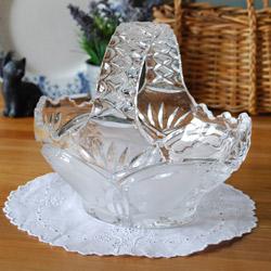 アンティークのプレスドグラス
