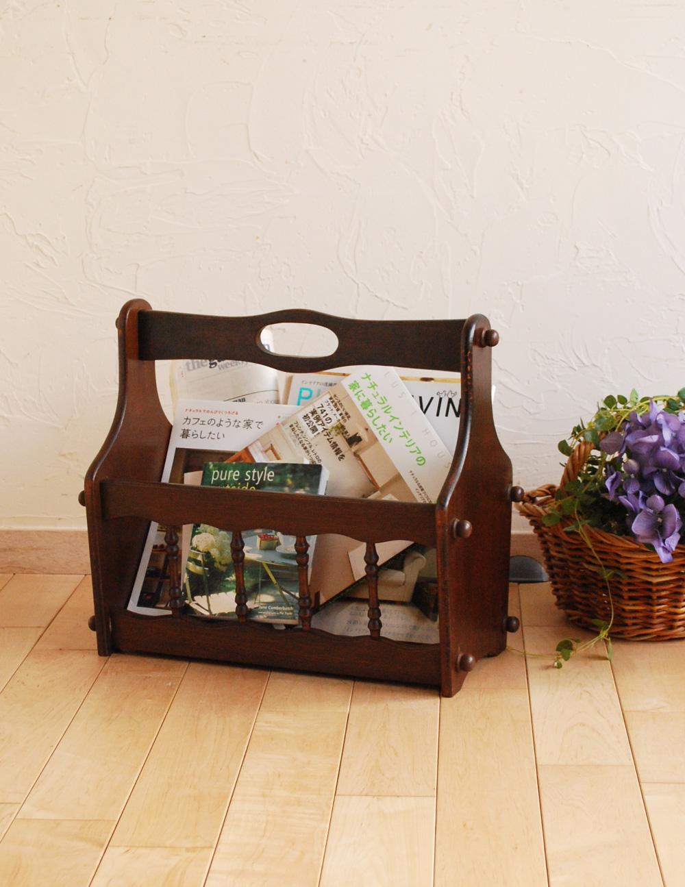収納 家具 おすすめ 子供部屋にもオススメの小さな収納家具、運びやすいマガジンラック(j