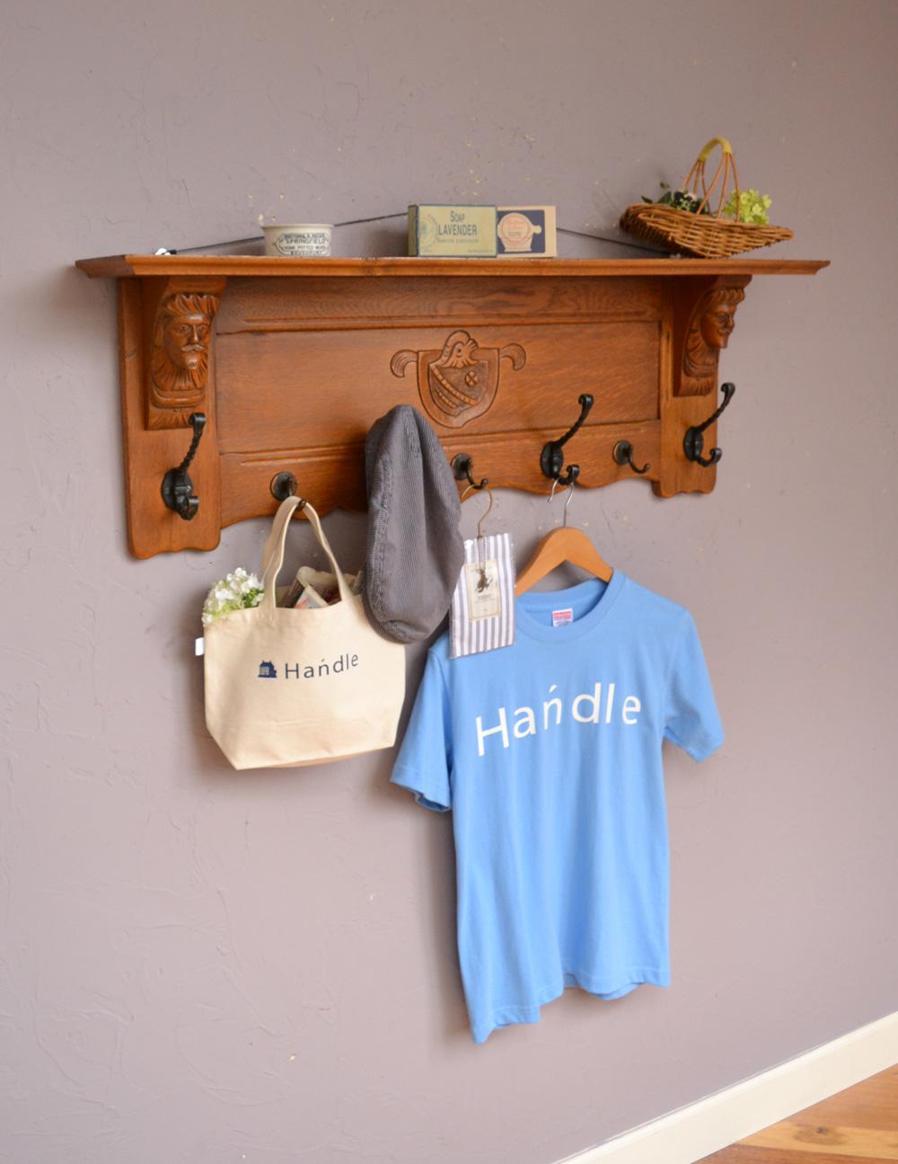 フランスアンティークの壁付け家具、フックがたっぷり付いた美しいウォールハンガー(