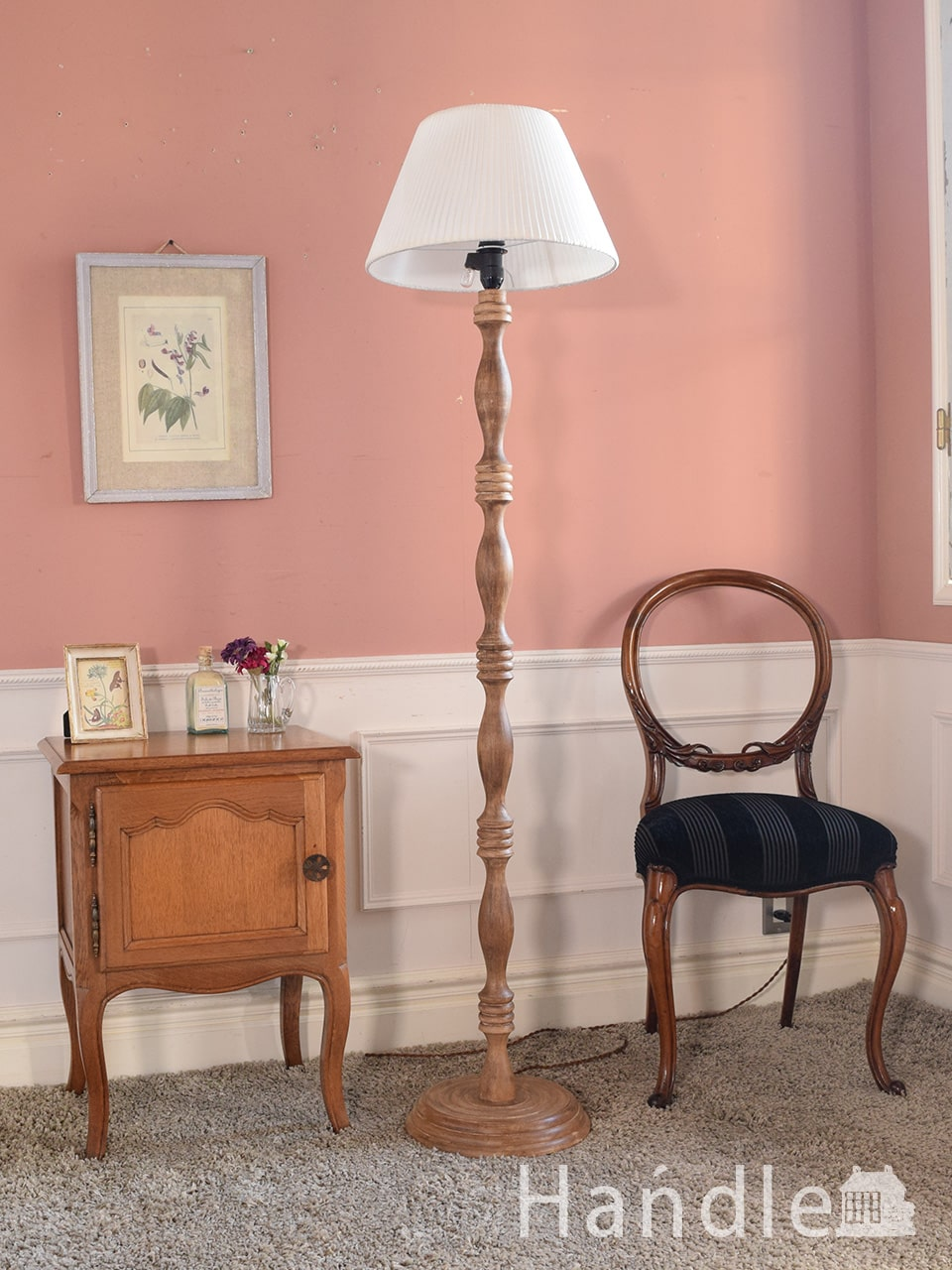 Handleのオリジナル照明、木製のフロアランプ(E26電球付き) (CR-019-c)