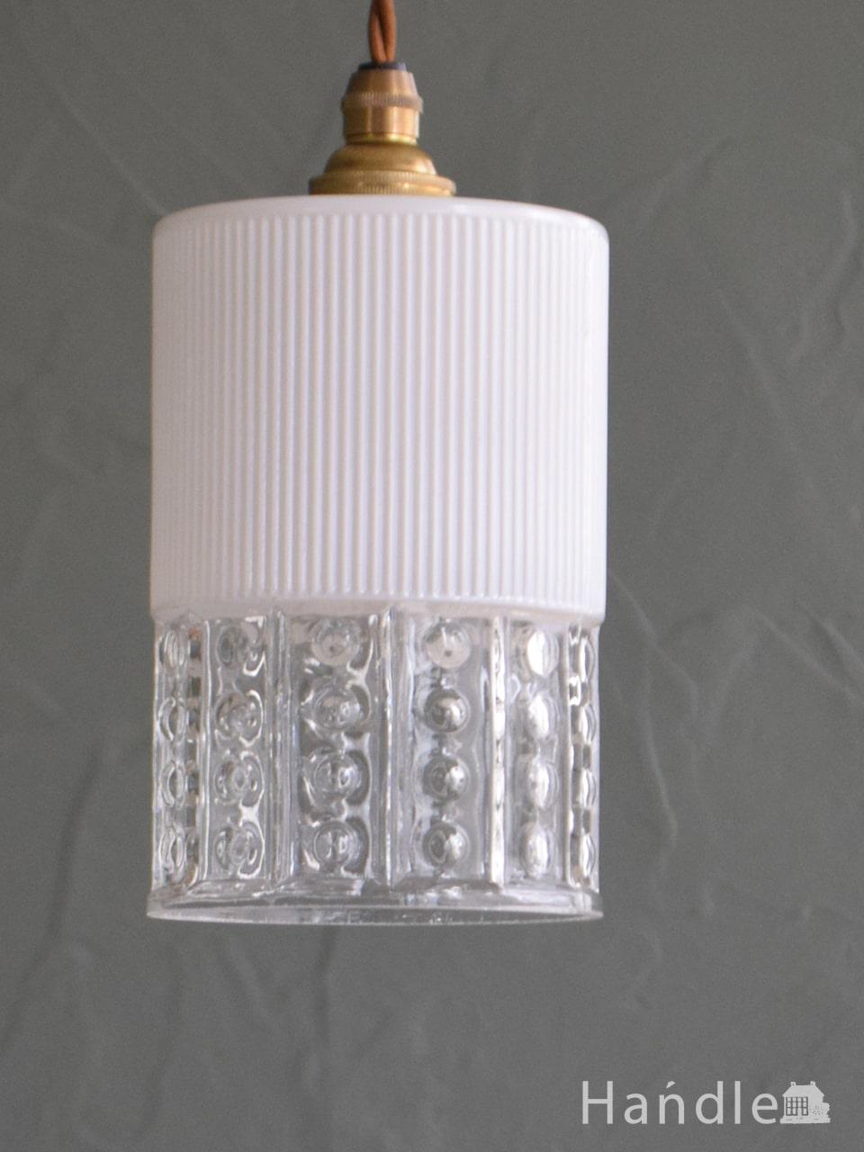 イギリスの照明、水玉模様が輝くアンティークペンダントライト(コード・シャンデリア電球・ギャラリーなし) (k-4639-z)