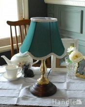 布シェードのテーブルランプ/グリーン(タッチセンサーランプ)(電球なし)