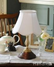 布シェードのテーブルランプ/ホワイト(タッチセンサーランプ)(電球なし)
