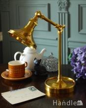 アンティーク風に仕上げた真鍮製のデスクランプ/B(テーブルランプ)(電球なし)
