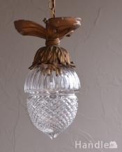 お花のツボミのようなシルエットアンティークペンダントライト(1灯)(E17シャンデリア球付)