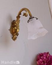 真鍮が美しいフランスのアンティークウォールブラケット(E17シャンデリア球・ギャラリーA付き)
