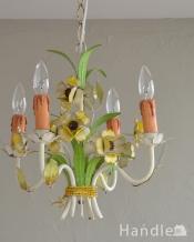 花束みたいに可愛いアンティーク シャンデリア(4灯)(E17シャンデリア球付)