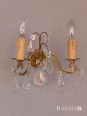 フランスのアンティーク照明、おしゃれな壁付けシャンデリア(E17シャンデリア球付)