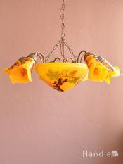 アンティーク調のおしゃれなシャンデリア、フランス風の優雅な照明器具(7灯)(E17シャンデリア球付)