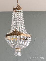 フランスのおしゃれな照明、アンティークのシャンデリア(E17シャンデリア球付)