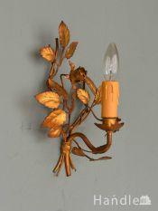 フランスのおしゃれな壁付けシャンデリア、アンティークのバラのウォールブラケット(E17シャンデリア球付)