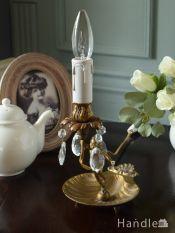 アンティークのおしゃれなテーブルランプ、真鍮製のエンジェルの形をした照明器具(E17シャンデリア球付)