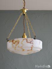 アンティークのおしゃれな照明器具、イギリスで見つけたアンティークハンギングボウル(E26球付)